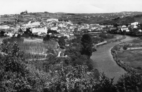 Photograph of the view southeast of Betanzos, circa 1965