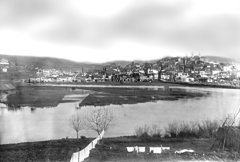 Photograph of the view west of Betanzos, circa 1904