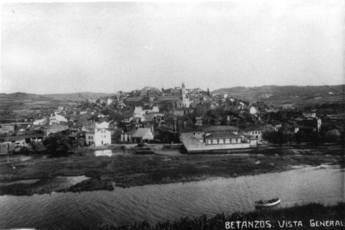 Photograph of the view east of Betanzos, circa 1925