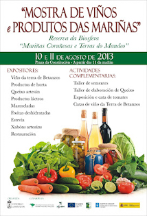Poster of the As Mariñas Wine and Local Products Exhibition