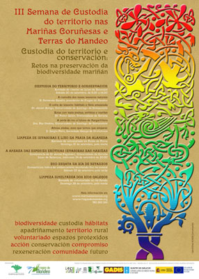 Image of the poster of the III Week of Land Stewardship in As Mariñas of A Coruña and the River Mandeo area.