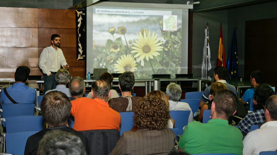 Photograph of the speech on invasive species