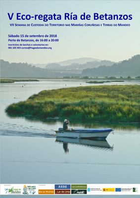 Image of the poster of the V Eco-regatta on the Betanzos estuary
