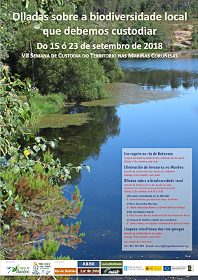 Image of the poster of the 7th Week of Land Stewardship in the As Mariñas of A Coruña and the River Mandeo area