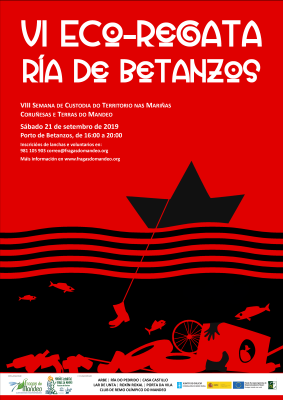 Image of the poster of the VI Eco-regatta on the Betanzos estuary