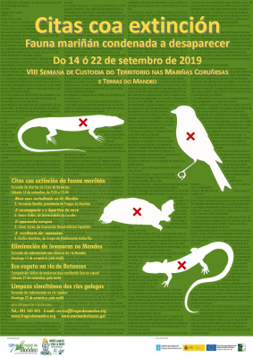 Image of the poster of the VIII Week on Land Stewardship in As Mariñas of A Coruña and the River Mandeo